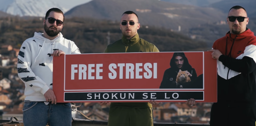 Shoktë i dedikojnë këngë Stresit  dëgjohet edhe zëri i reperit nga burgu